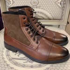 GEOX Respira Brown Leather w/Suede Boot Size 13